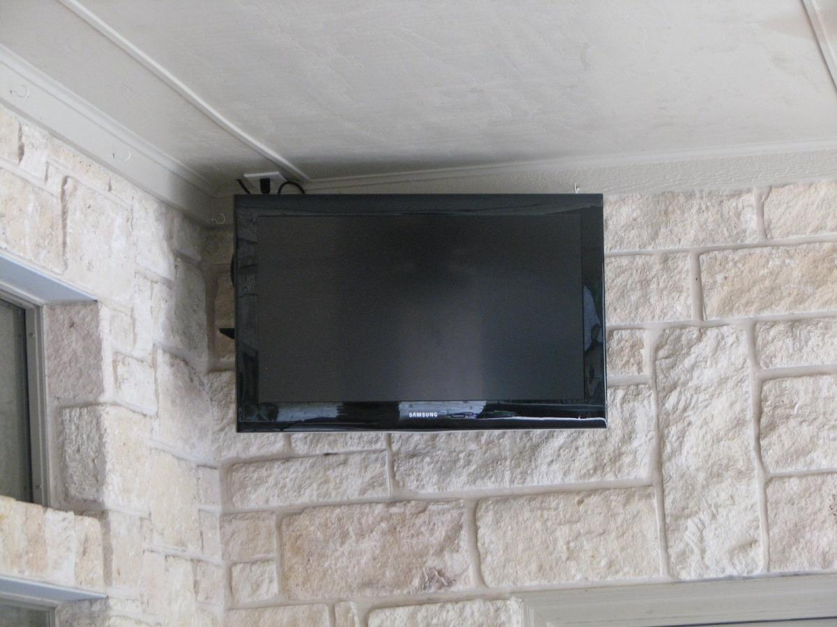 Outdoor Tv Gazebo - Photo samsung 37 tv install outside installer installed full motion mount mansfield tx
