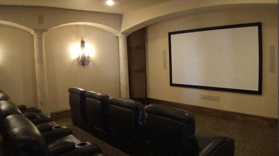 Photo Austin TX home theater surround sound projector install installer did  insatllation of projector and screen. Home Theaters   Unisen Media LLC