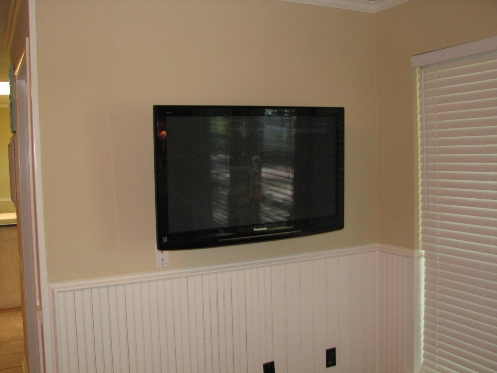 Photo Panasonic 42 Installation Of TV On Wall Equipment Is In Closet Behing Rockwall TX