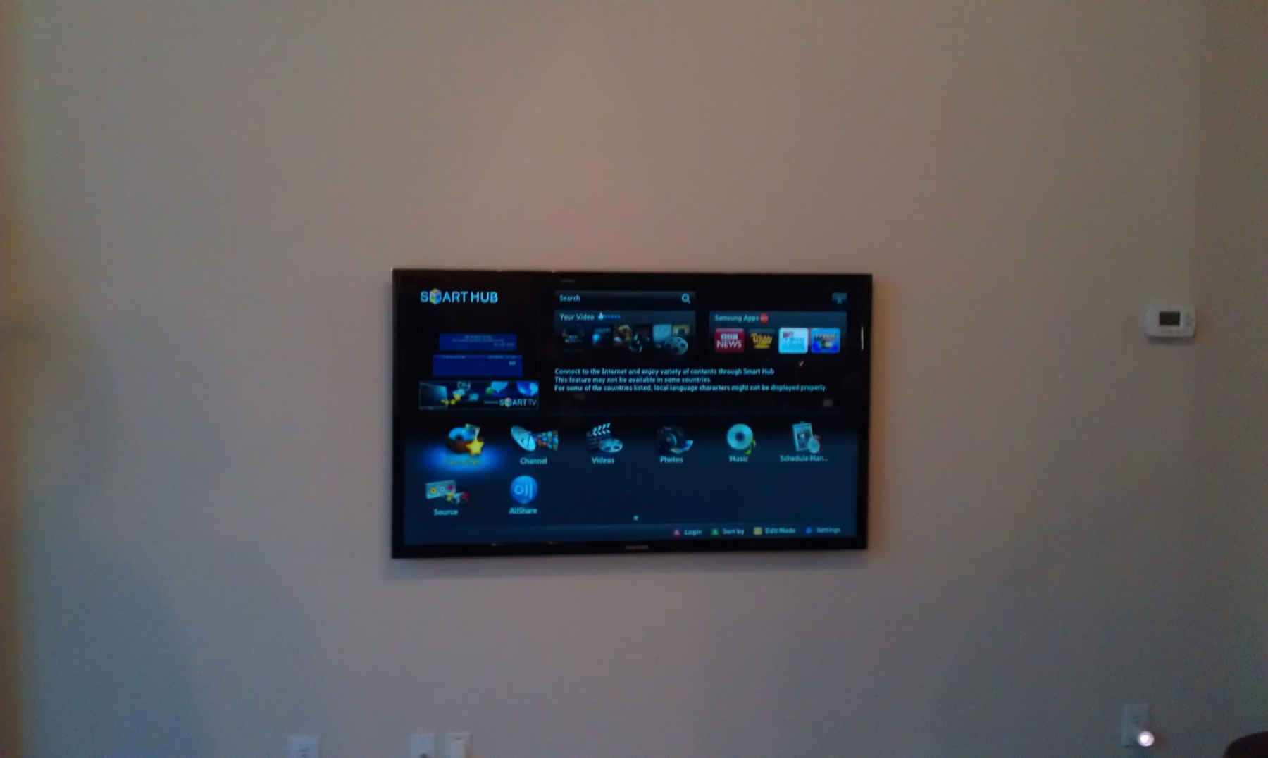 Wall Led Tv : samsung-55-led-tv-mounted-on-wall-with-in-wall-wiring-frisco-tx.jpg