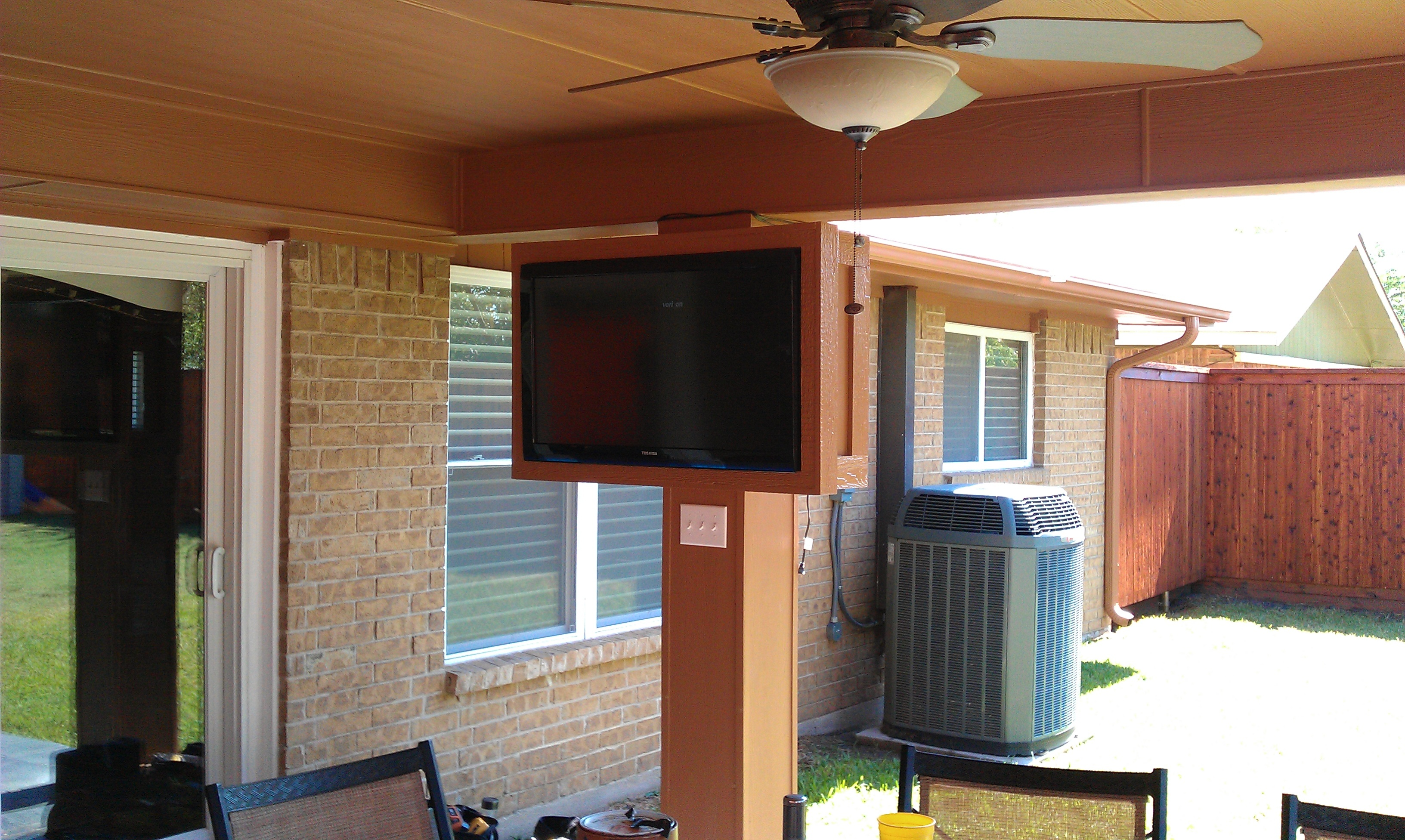 Photo Outside TV Install Coppell TX