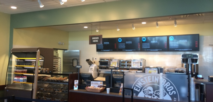 Einstein Bros Menu Board